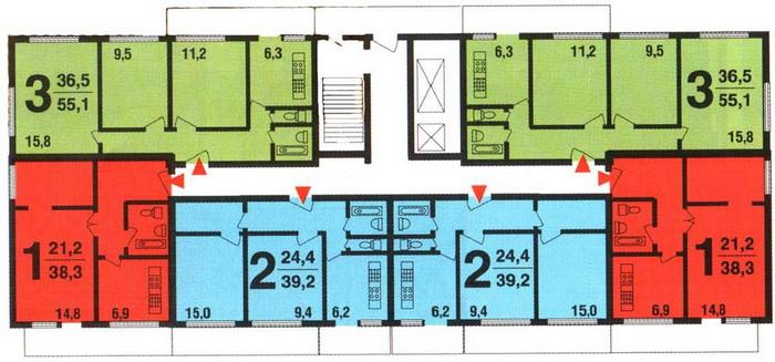 План расположения квартир на этаже