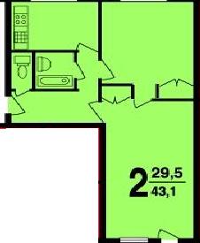 2-х комнатная квартира в доме серии I-510МГ