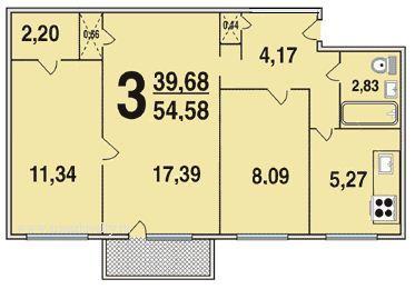 3-комнатная квартира в доме серии I-510