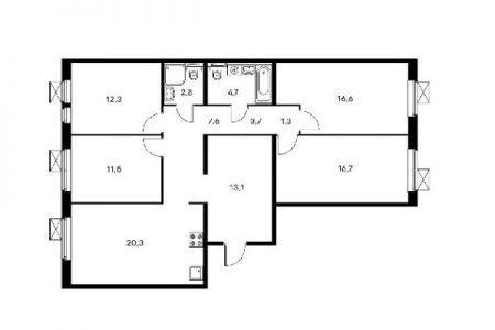 Четырёхкомнатные квартиры
