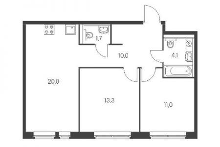 Двухкомнатные квартиры