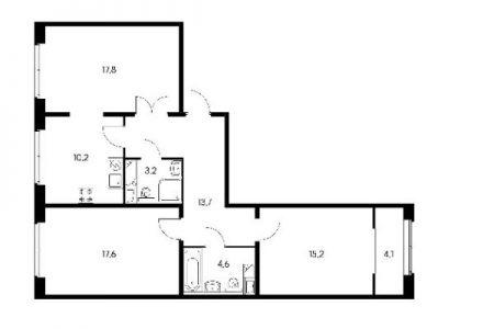 Трёхкомнатные квартиры